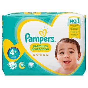 COUCHE PAMPERS Premium Protection Taille 4+ - 9 à 18 kg -