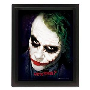 CADRE PHOTO Cadre 3D Lenticulaire Batman : Dark Knight why so