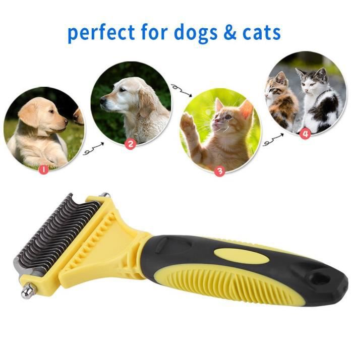 Self Cleaning Pet Hair Brush Clean Care Hand Grooming Comb For Dog Puppy Cat Kit Prk84