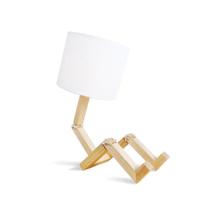 Ajustable En Bois Robot Lits De Chevet Lampe De Chevet Créatif Salle  Du0027étude Chambre Chambre Des Enfants Lampe De Bureau