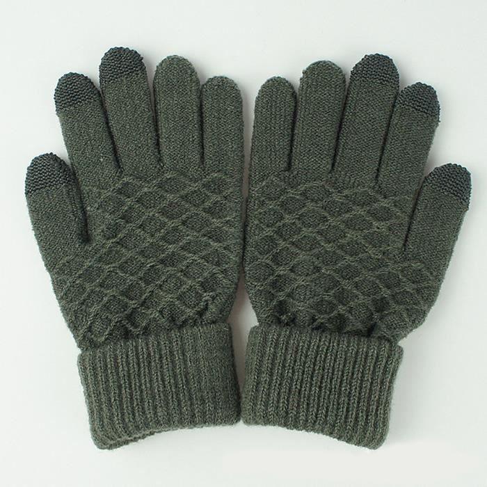 7488e154ba Gants homme Laine tricot homme hiver Gardez Gris NWGL7 - Achat gant ...