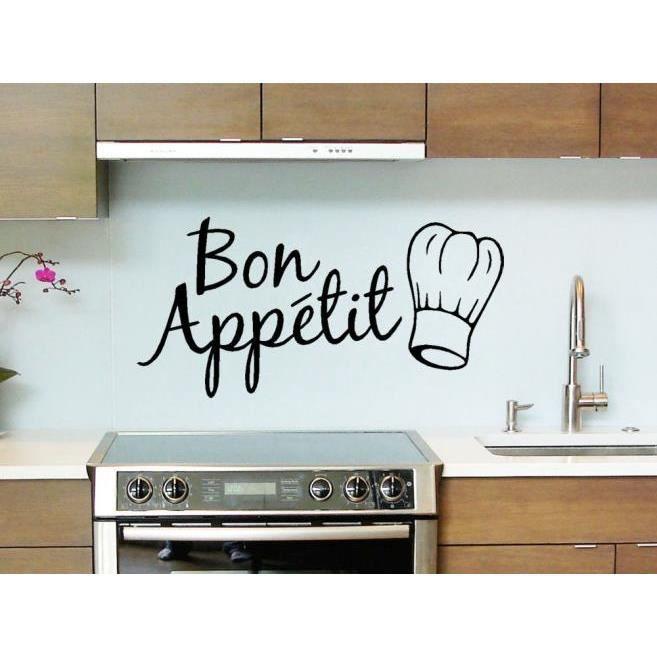 1pc vinyl Wall Stickers quote bon appétit salle à manger décor ...