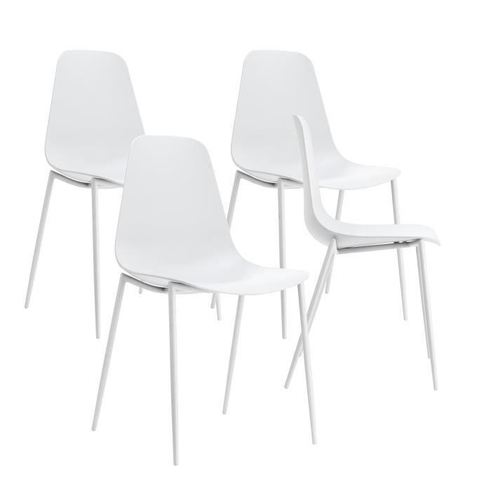 """CHAISE By Demeyere """"Ari"""" lot de 4 chaises de salle à mang"""