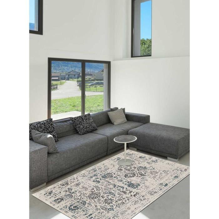 Tapis salon ORIENTAL DESTRUCTURE 7 blanc 80x150, par Dezenco, Tapis ...