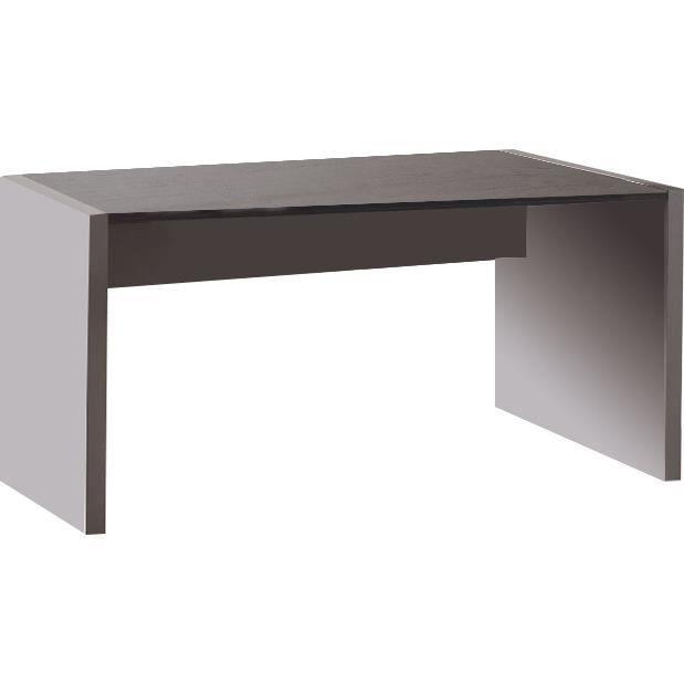 bureau 160 cm en bois coloris gris et ch ne anthra achat vente bureau bureau 160 cm en bois. Black Bedroom Furniture Sets. Home Design Ideas