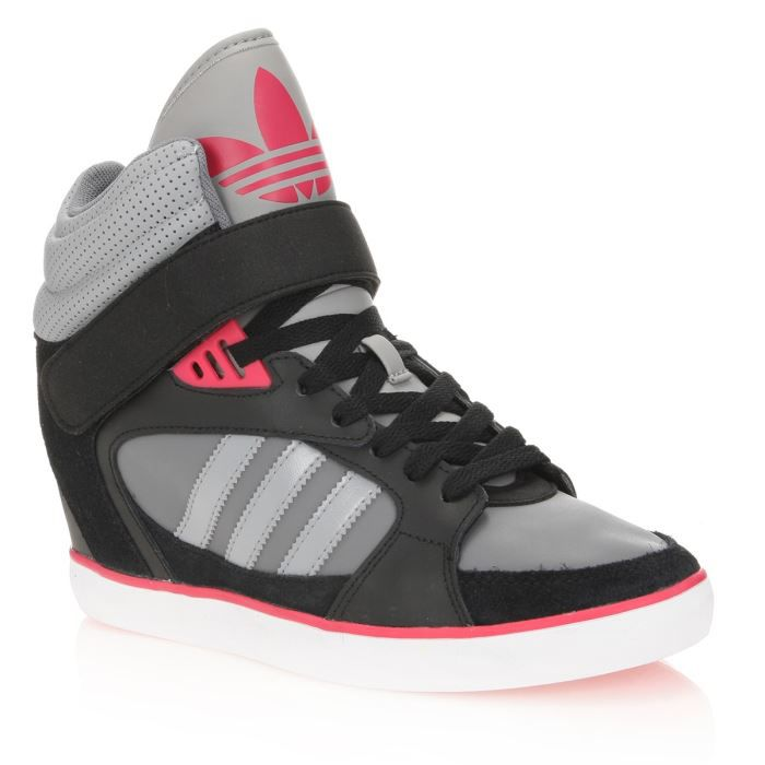 ADIDAS Baskets Cuir Amberlight Heel W Femme NOIR GRIS ROSE - Achat ... 23196fa4e0c2
