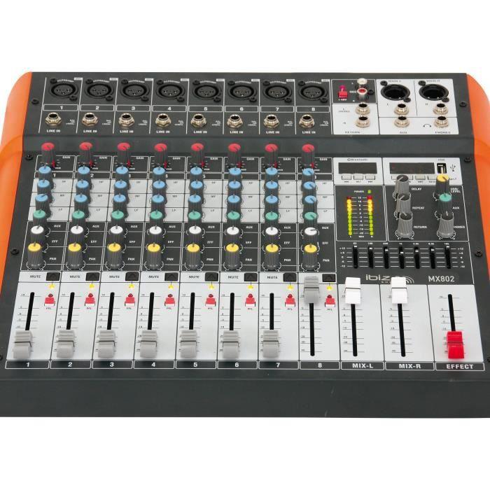 table de mixage ibiza mx801