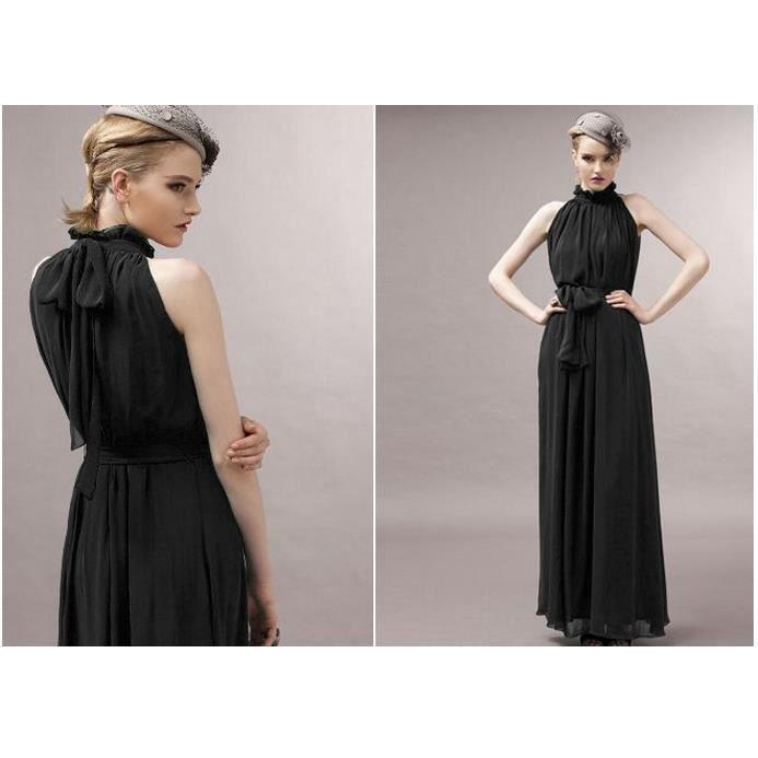 Summer dress col nouvelle bustier de mode noir