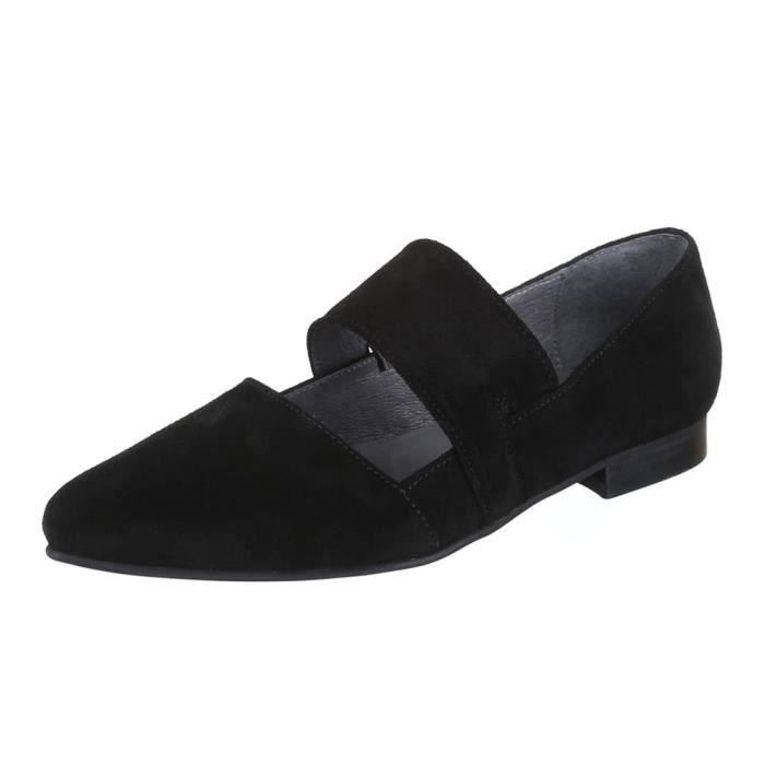 Chaussures femmes Escarpins confortable confort cuir noir