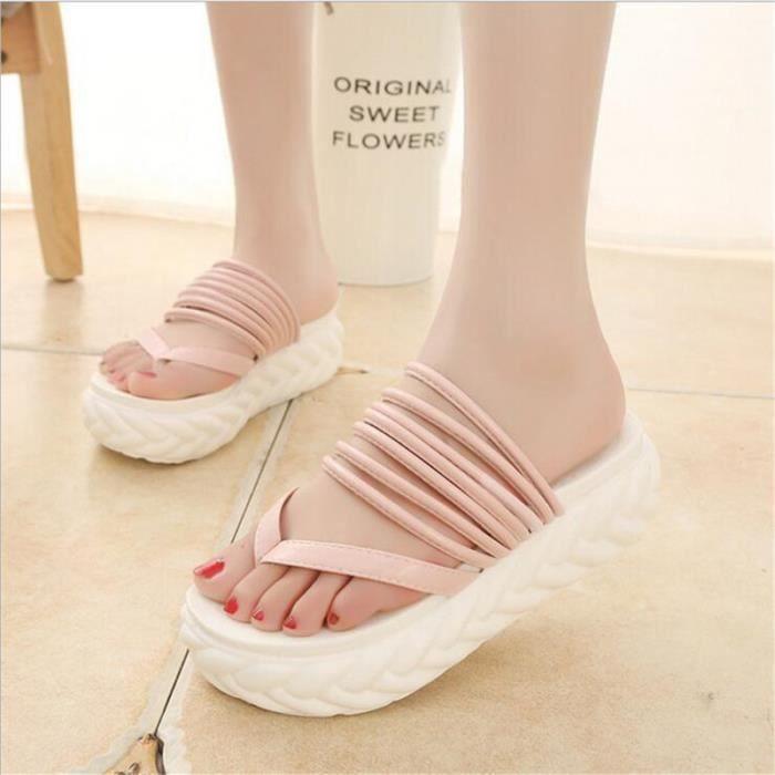 Sandales femme tongs marque De Luxe Confortable chaussure de plage 2017 femmes chaussures été sandales Grande Taille 40 QIAtmjX2