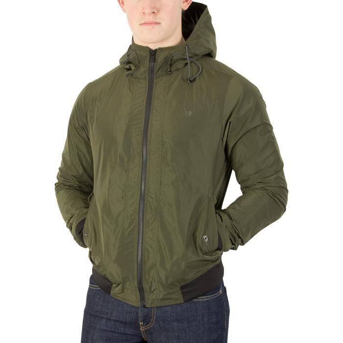 Scotch   Soda Homme Veste à capuche courte, Vert Vert Vert - Achat   Vente  veste - Soldes  dès le 9 janvier ! Cdiscount a762abe8d34e