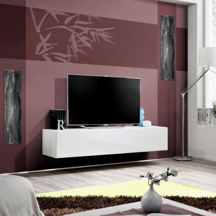Paris Prix Meuble Tv Mural Design Fly I 160cm Blanc Achat
