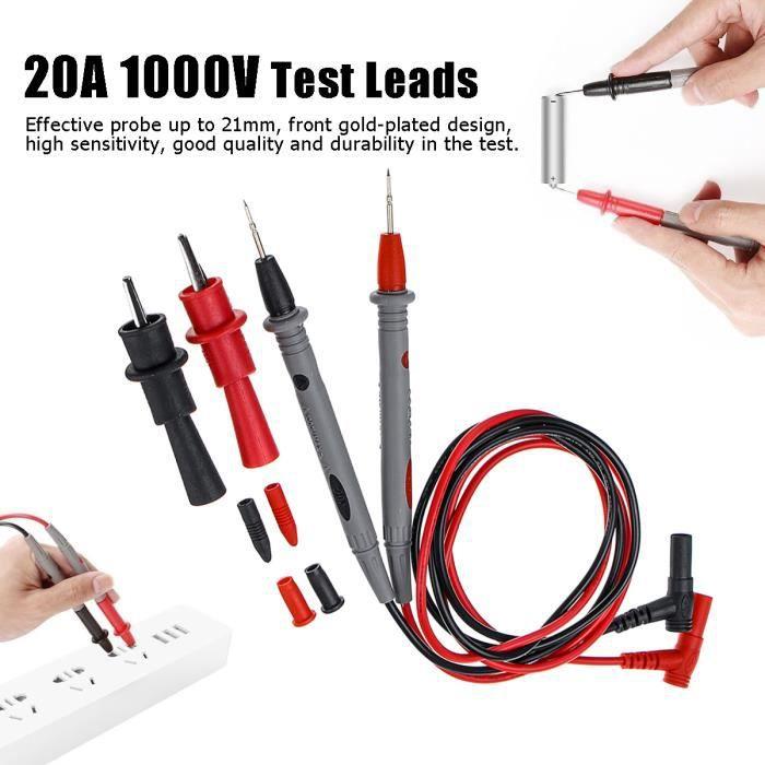 1 paire 28 multimetre Cordons de test SODIAL R Noir et Rouge