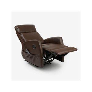 fauteuil avec repose jambes achat vente pas cher. Black Bedroom Furniture Sets. Home Design Ideas