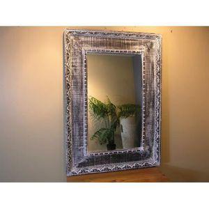 Miroir ceruse achat vente pas cher for Miroir bois gris