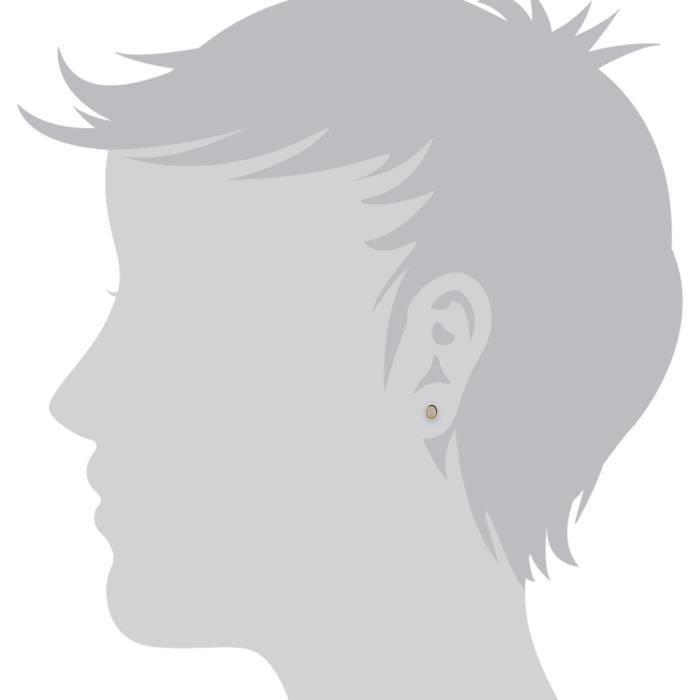 Gemondo Boucles doreilles clou Solitaire Or jaune 9 ct Opale Couleur changeante