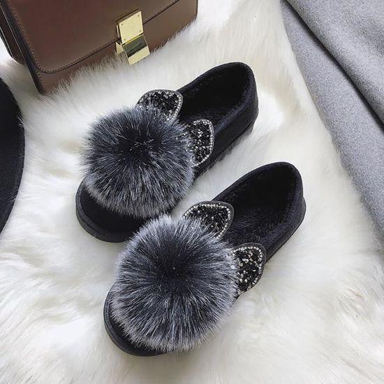 Petit De Chaussures Femmes Peluche Neige Confortables Plates confor83  Chauds Et Bottes En Coton Aw1xqFd106 eb000232fe7a
