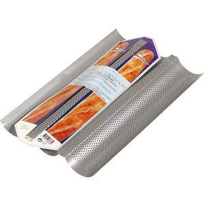 PATISSE Moule 3 baguettes antiadhésif en acier rev?tu - 38x25x0,5 cm