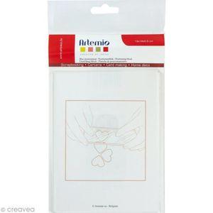 TAMPON DÉCORATIF Bloc acrylique pour tampon transparent 12 x 16 cm