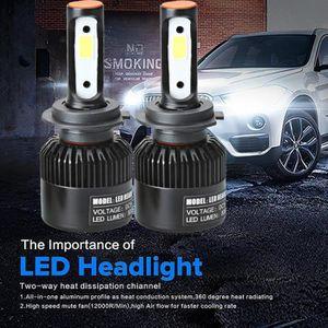 PHARES - OPTIQUES WDD70321283®110W H7 COB LED 16000LM voiture Auto P