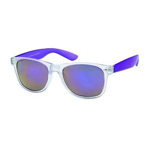 63f3d0a0220196 LUNETTES DE SOLEIL Blues brothers bicolores glacé verre miroir 3087 V