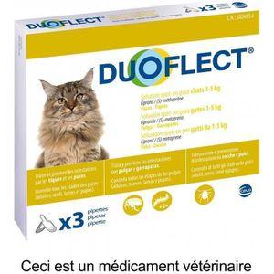 ANTIPARASITAIRE DUOFLECT Lot de 3 pipettes antiparasites - Pour ch