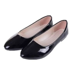 BALLERINE Mode Ronde Simple Cuir Chaussure Femme Bateaux ...