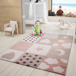 TAPIS Tapis jeux enfant rose [80x150 cm]