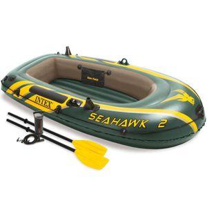 BATEAU PNEUMATIQUE Set bateau gonflable avec rames + pompe Intex Seah