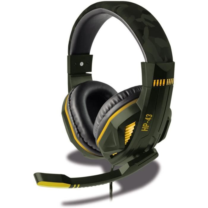 CASQUE AVEC MICROPHONE Casque Filaire SteelPlay HP43 Green Camouflage - M
