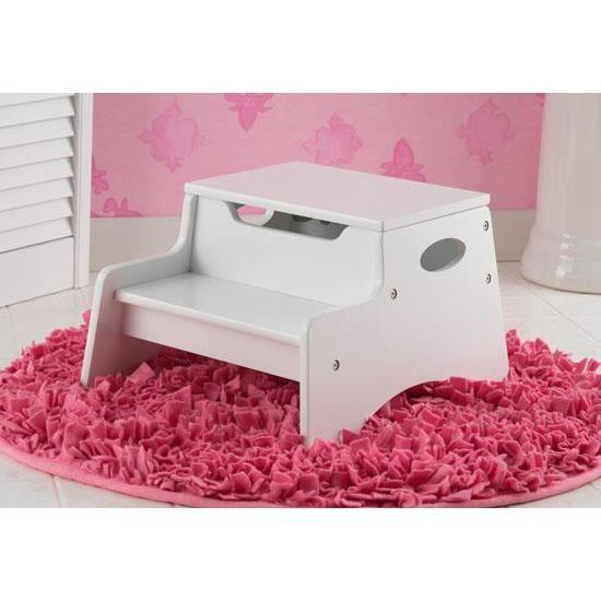 escabeau marche pied en bois blanc pour enfant achat. Black Bedroom Furniture Sets. Home Design Ideas