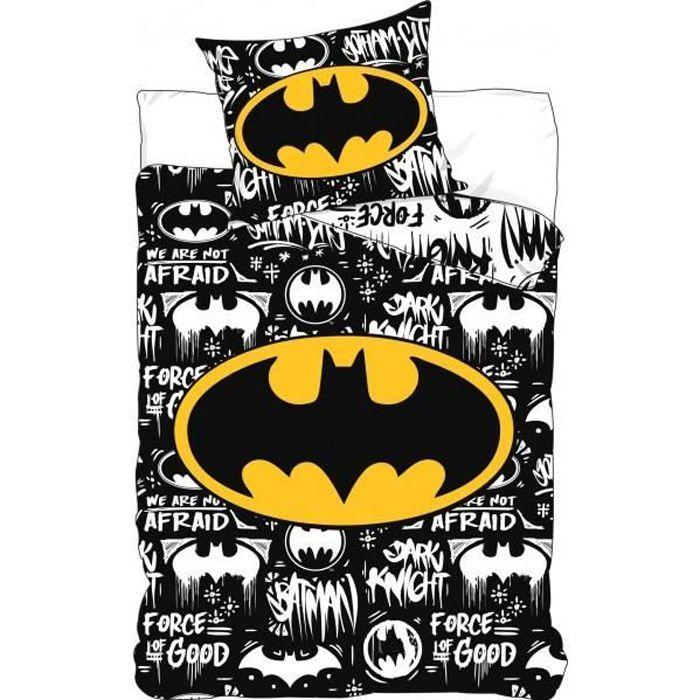 Parure De Lit Batman 140x200 Cm Housse De Couette