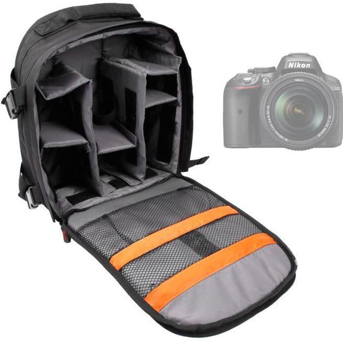 sac dos modulable pour nikon d7100 d3300 d5200 achat. Black Bedroom Furniture Sets. Home Design Ideas
