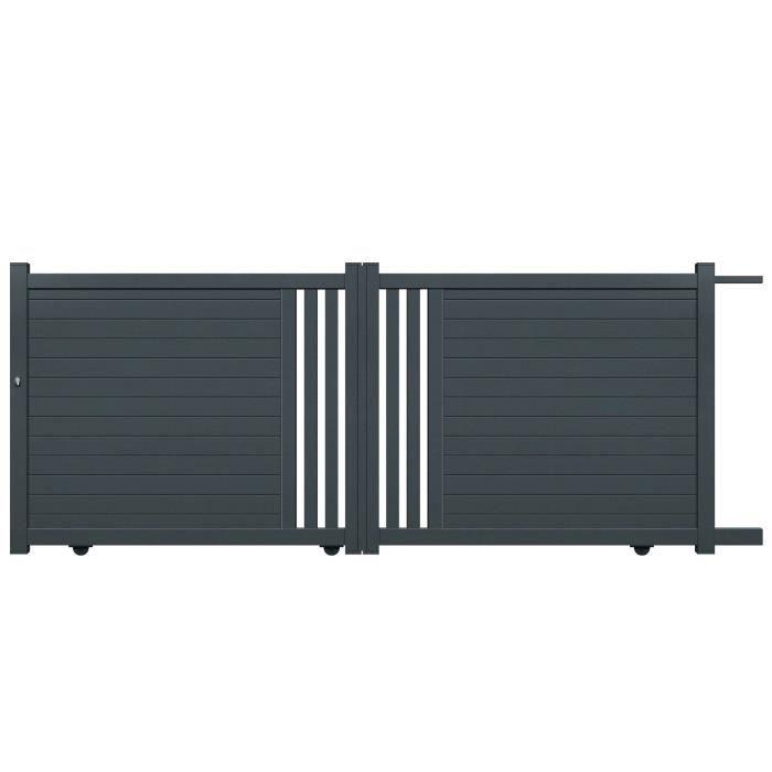 PORTAIL - PORTILLON Portail coulissant Vasto en aluminium - 360 x 140