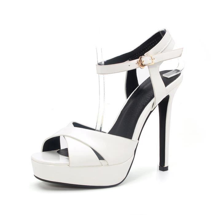 Nouveau Sandales à talons Femme Chaussure-Slingback .