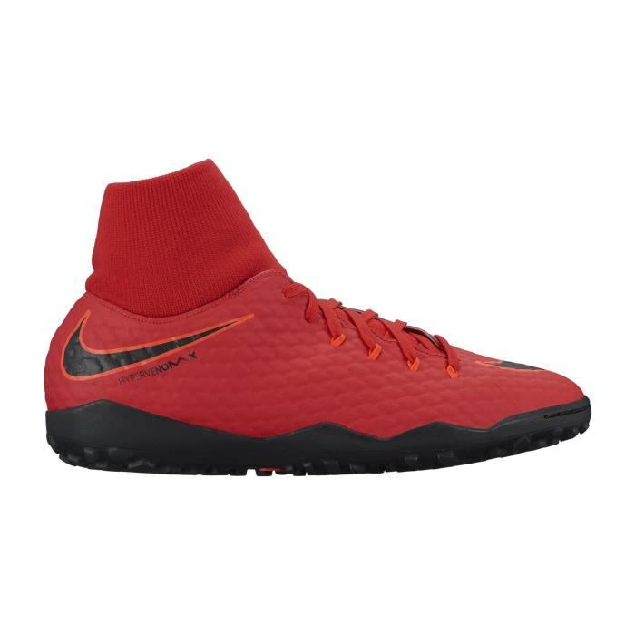 brand new 83a42 ed306 Chaussures football Nike HypervenomX Phelon III DF TF Rouge - Prix ...