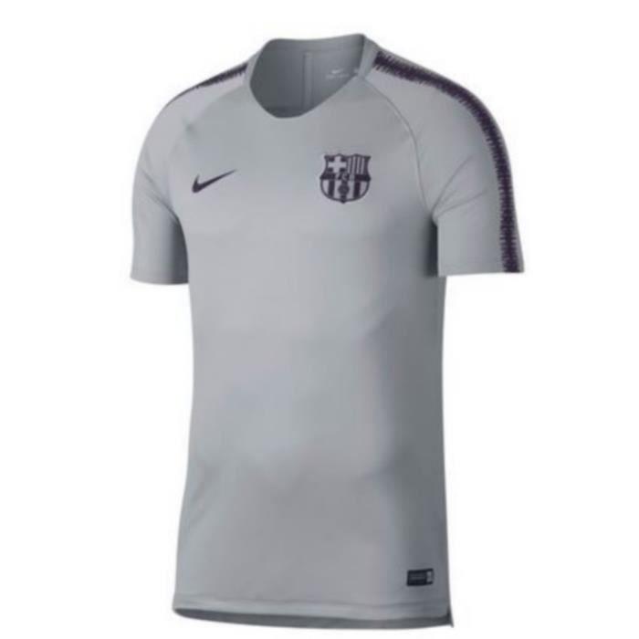 1addc1716 Maillot Officiel D Entrainement Homme Nike FC Barcelone Gris Saison ...