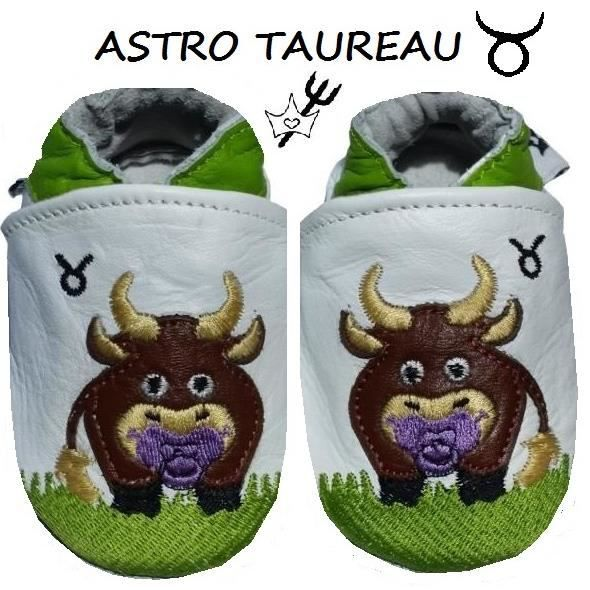 CHAUSSONS CUIR ASTRO BEBE 0-6 MOIS 2mBfj9y