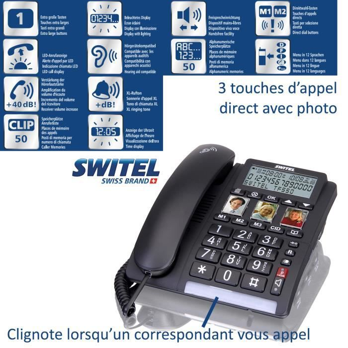 d7535966794d19 Telephone filaire avec repondeur - Achat   Vente pas cher