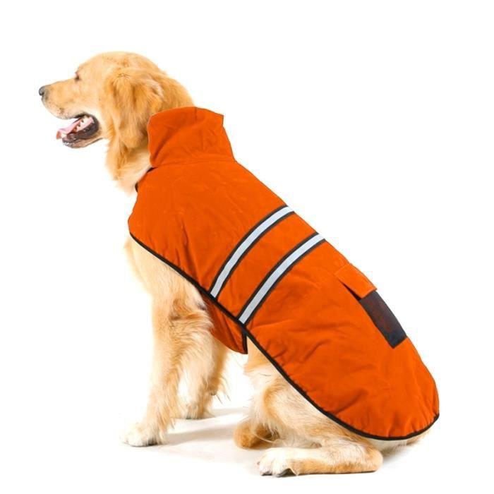 Vêtements Pour Animal Compagnie Chien Coton Vêtement Avec Ruban Réfléchissant Taille: L Buste: 64-72cm Cou: 39-44cm Orange Automne