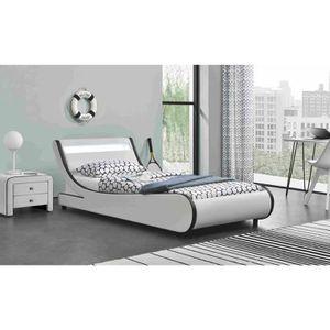 lit 90x190 led achat vente lit 90x190 led pas cher. Black Bedroom Furniture Sets. Home Design Ideas