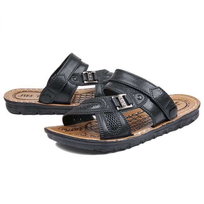Hommes Chaussures Casual noir Couple Chaussures Plage Unisexe Sandale Évider Tongs r8vr1n