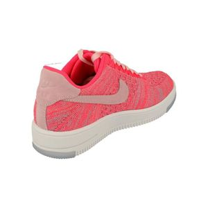 check out 54f9b dad2d ... CHAUSSURES DE RUNNING Nike Femme Af1 Air Force 1 Flyknit Low Running  Tra ...