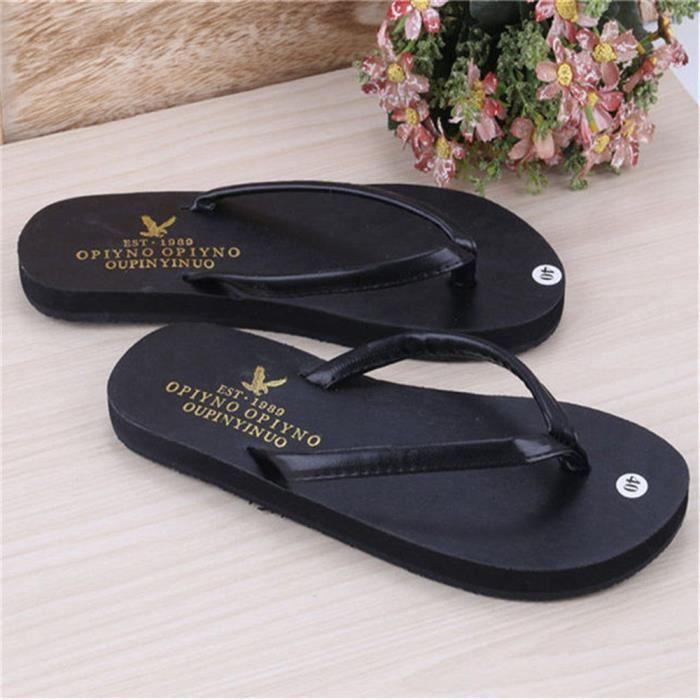 a6088f506f8ea ... Homme Tongs Marque De Luxe Pantoufle éTé Confortable Sandale Pantoufles  De Plein Air Sandale Marque Homme ...
