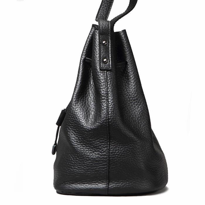 Épaule Sacs à main en cuir Hobos Sacs Bucket pour les femmes K053B