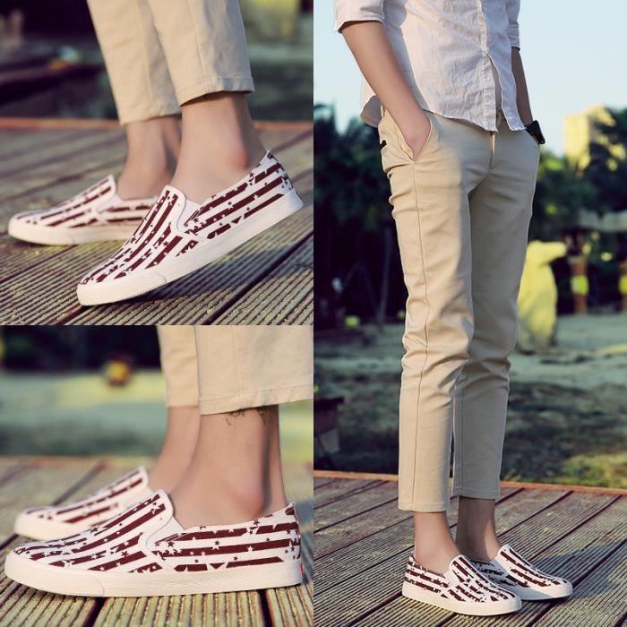 Chaussures en toile de mode d'été pour hommes Fourreaux Mocassins