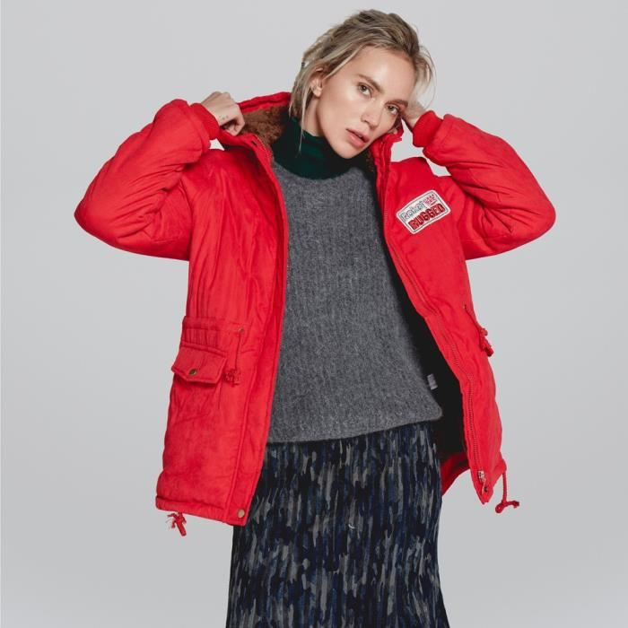 Fourrure D'hiver Col À Capuche Womens Slim Parka Chaud Outwear Manteau Veste Manteaux Rouge En Long Hhq80912485rds qw0X0rtP