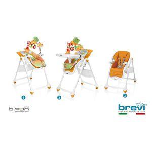 CHAISE HAUTE  BREVI Chaise Haute B-Fun Multifonctions Citrouille
