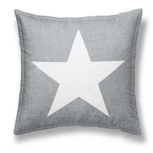 TODAY Coussin déhoussable Chambray Coton GIRL STAR - 40x40cm