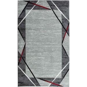 TAPIS Tapis de salon Santana gris, noir, rouge 80x150cm